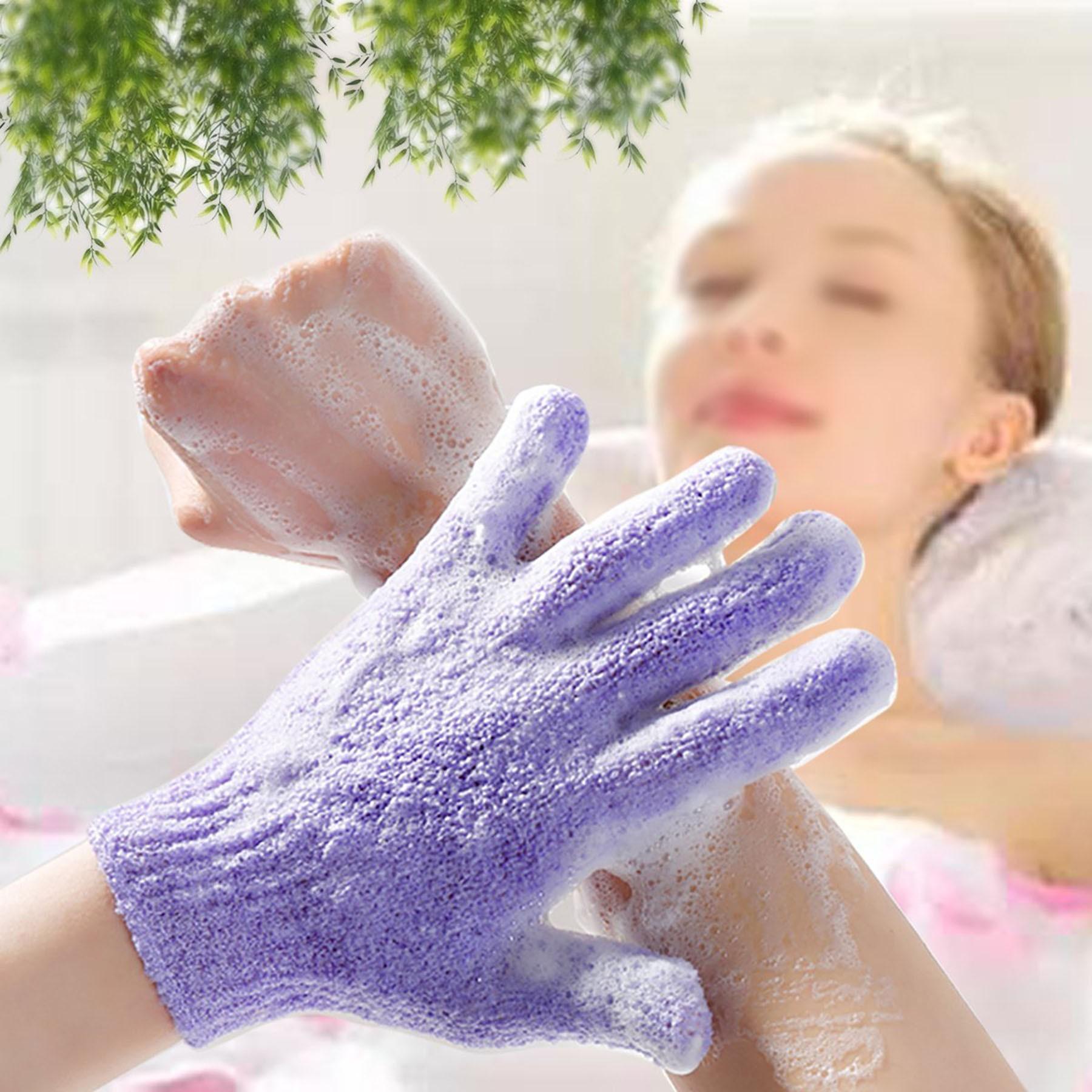 custom exfoliating gloves