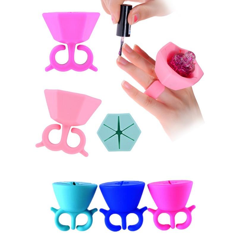 silicone wearable nail polish bottle holder