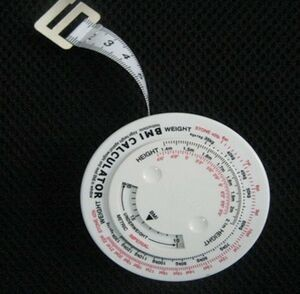 Imprinted Body Tape Features a BMI Calculator