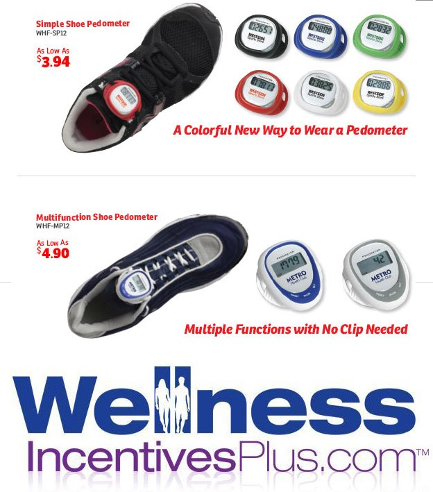 New Imprinted Shoe Pedometers