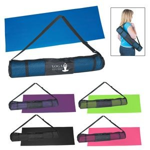 Custom Imprinted Yoga Mat and Carrying Case