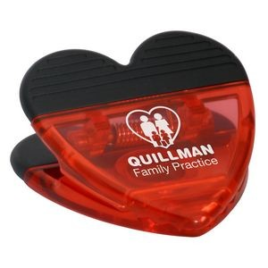 Custom Printed Promotional Heart Clip