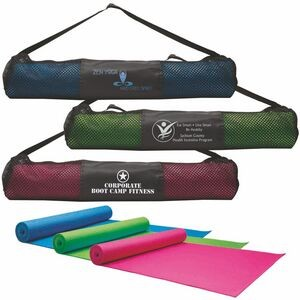 Custom Printed Yoga Mat With Carrying Case